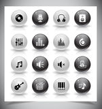 Music Icons Royalty Free Stock Photography