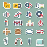 Music icons set. Illustration of music icons set Stock Illustration