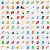 100 music icons set, isometric 3d style Royalty Free Stock Photo