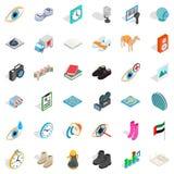 Music icons set, isometric style. Music icons set. Isometric style of 36 music vector icons for web isolated on white background Stock Photography