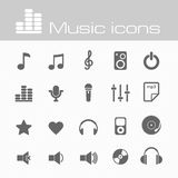 Music icons set Stock Image