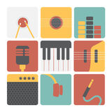Music icons. Stock Images
