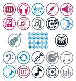 Music icons set. Royalty Free Stock Images