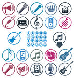 Music icons set. Stock Photography