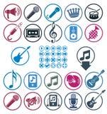 Music icons set. Stock Photography