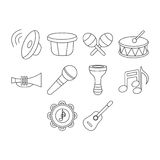 Music icons. Set for songs Stock Photo