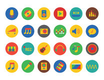 Music icons set. Sound, music tools, dj, party Royalty Free Stock Image