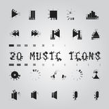 Music icons set Stock Photo