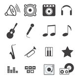 Music icons. Set of music icons in vector Stock Photos