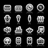 Music icons. Set, vector illustration Royalty Free Stock Image