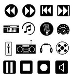 Music Icons Set Stock Photography