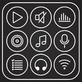Music icons set. Vector Royalty Free Stock Image