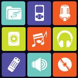 Music icons square Royalty Free Stock Photos