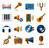 Music  icons Royalty Free Stock Image