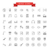 Music icons. Vector graphic design music icons Stock Photography