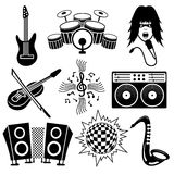 Music icons. Royalty Free Stock Photography