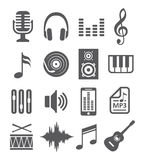 Music Icons. On white background Stock Photography