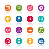 Music icons. On white background Royalty Free Stock Images