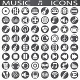 Music icons. On a white background in circles Stock Image