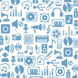 Music Icons. On white background. Vector illustration Stock Photo