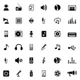 Music Icons. On white background. Vector illustration Royalty Free Stock Photo