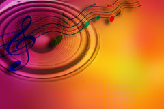 Music idea. Loud speaker and music notes royalty free stock photos