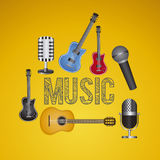Music illustration Royalty Free Stock Photos