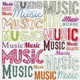 Music illustration Stock Images
