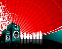 Music illustration with speaker Stock Images