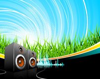 Music illustration with speakers Stock Photo