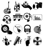 Music industry icons set Royalty Free Stock Photos