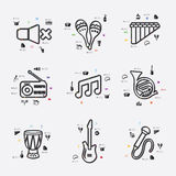Music infographic Royalty Free Stock Photos