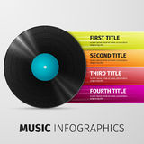 Music infographics Stock Photo