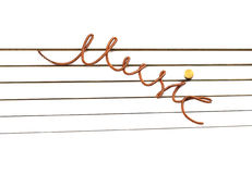 Music the inscription of a string. Stock Photos