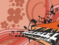 Music Instrument Background with piano. Musical Background in Floral Style. Check my portfolio for much more of this series as well as many more similar and Stock Photography