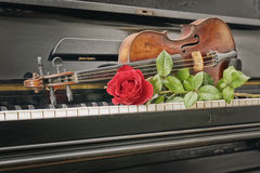 Music instrument composition Royalty Free Stock Images