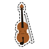 Music instrument design. Fiddle instrument icon over white background. colorful design. vector illustration Stock Photography