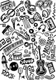 Music Instrument Doodle Royalty Free Stock Photography