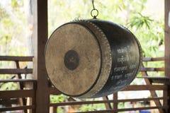 Music instrument, drum. Pai, Thailand Royalty Free Stock Photo