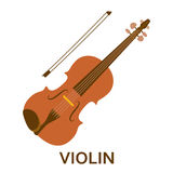 Music instrument icon. Violin Stock Photo