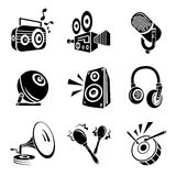 Music instrument icons Stock Photography