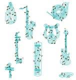 Music Instrument Pattern 2 Royalty Free Stock Photo
