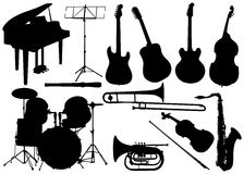 Music instrument - set Stock Photo