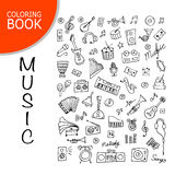 Music instrument set, sketch for your design Stock Image