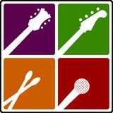 Music instrument symbols Royalty Free Stock Image