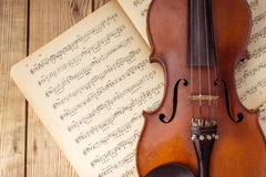 Music instrument violin Stock Images