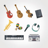 Music Instrumental Vector illustration. Available in high-resolution and several sizes to fit the needs of your project Stock Photography