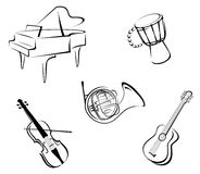 Music instruments Royalty Free Stock Photos
