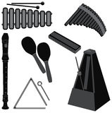 Music instruments. Illustration of various musical instruments Stock Images