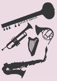 Music instruments. A illustration of music instruments stock illustration